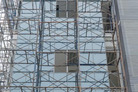 scaffold: Scaffold on a building wall