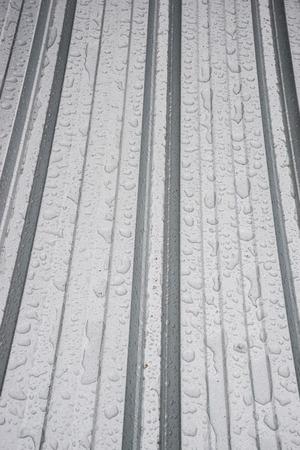 aluminium: Aluminium roof with rain drop