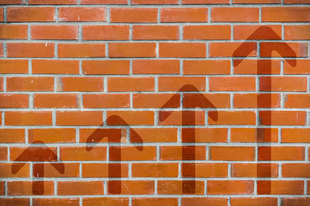 brick: Brick wall with 4-step up arrows