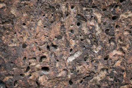 rock texture: Old porous volcanic rock texture Stock Photo