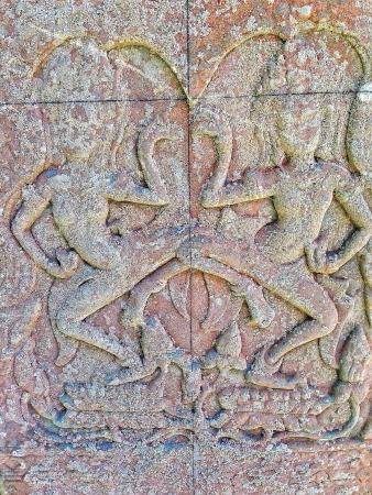 artwork: Wall art design - Angkor Wat Cambodia  Stock Photo