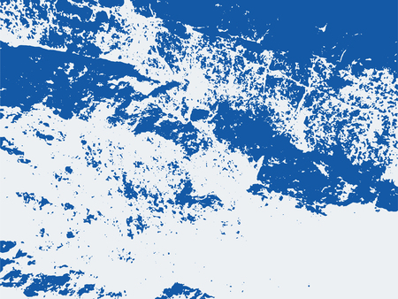Blue distressed abstract background texture. Vector rough stain overlay pattern.
