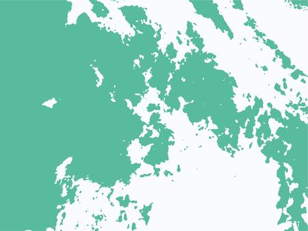 Green rough grunge texture vector background. Big spot pattern overlay. Çizim