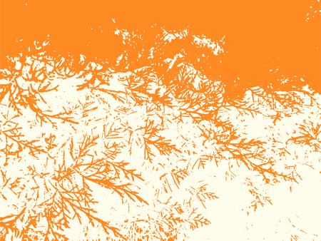Distressed spiky vector pattern background. Orange rough grunge overlay texture.