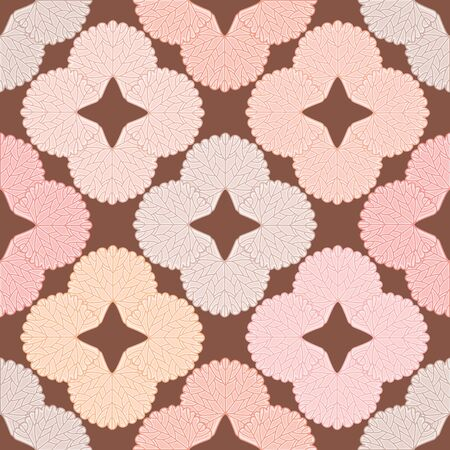 Garden Geranium leaf seamless vector pattern. Autumn floral shape illustration background.
