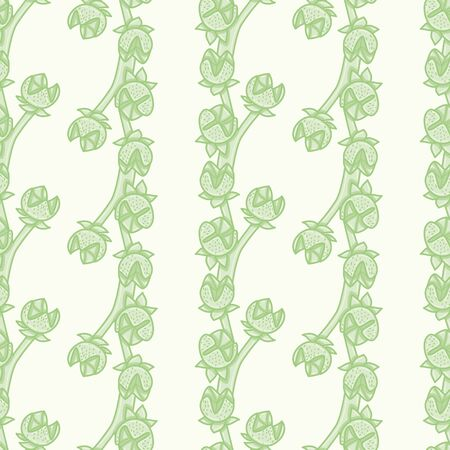 Herb of Grace buds seamless vector pattern. Common Rue illustration background.