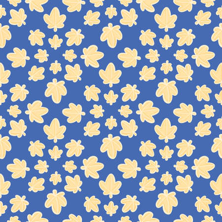 Star leaves vector design background. Cute sky seamless pattern illustration.