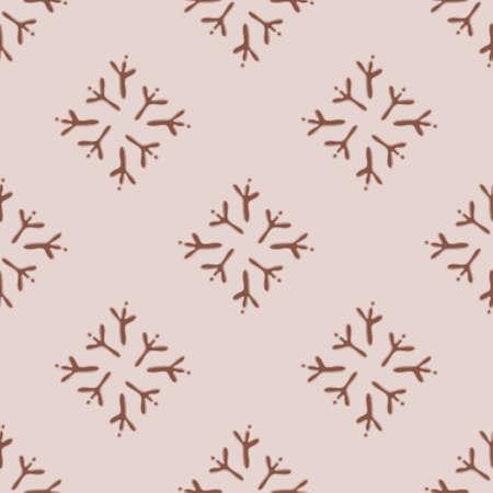 Bird talon print seamless pattern background. Organic diamond footprints vector illustration.