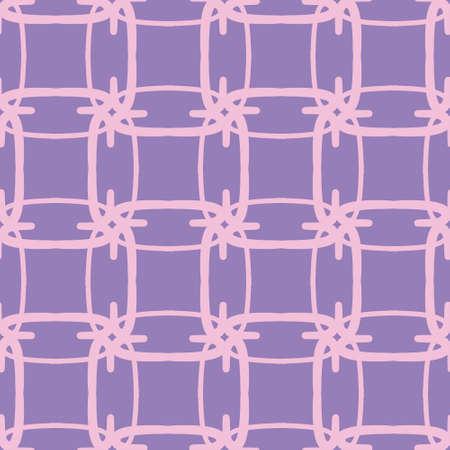 Star mesh seamless vector pattern. Cute girly lattice illustration background. Ilustração