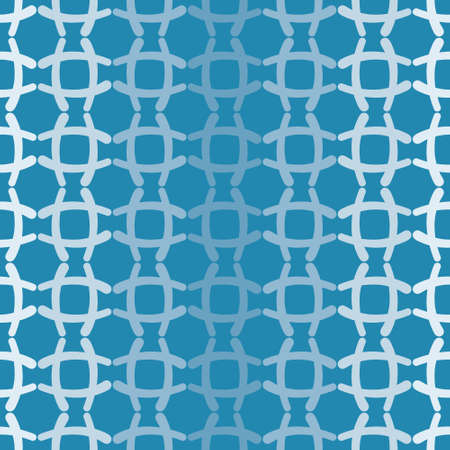 Gradient geometric vector repeat pattern. Criss cross curves seamless illustration background.