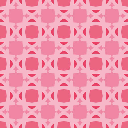 Soft lattice vector repeat pattern. Rounded geometric seamless illustration background.