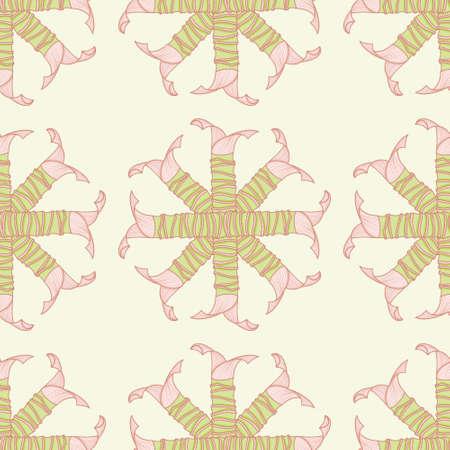 Mass Cane seamless pattern background. Corn plant trunk vector illustration. Illustration