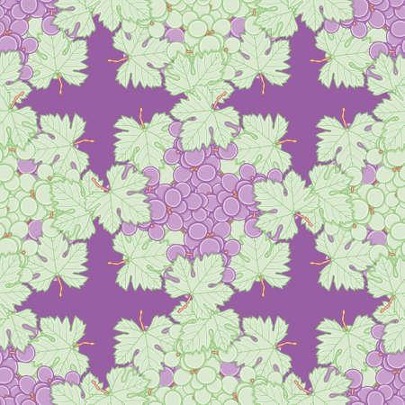 Seamless grape vine lattice pattern vector. Lobed leaf illustration background.