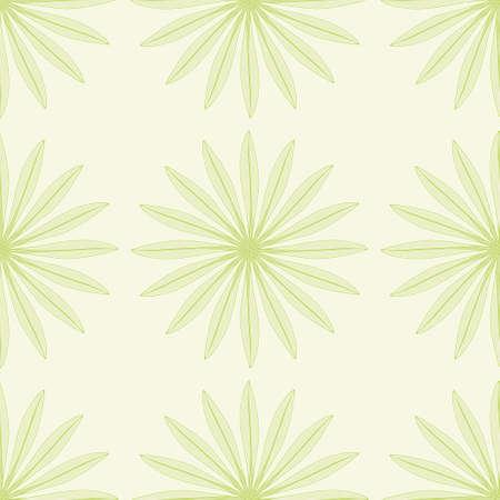 Thin leaf flower seamless vector pattern. Cartoon Gazania foliage illustration background.