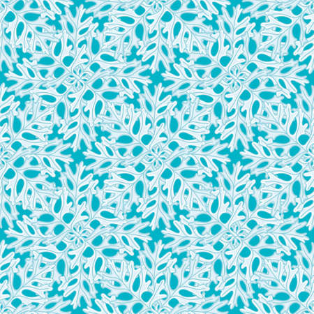 Dusty Miller flakes seamless illustration pattern. Cute Christmas leaf wallpaper background.