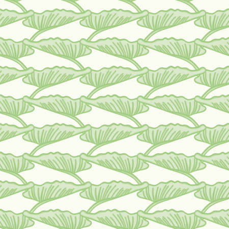 Calla lily leaves vector repeating pattern. Green abstract foliage wallpaper background.
