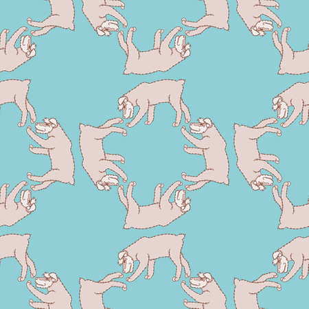Vector walking schnauzer pattern seamless. Cute little dog illustration background. Vektoros illusztráció