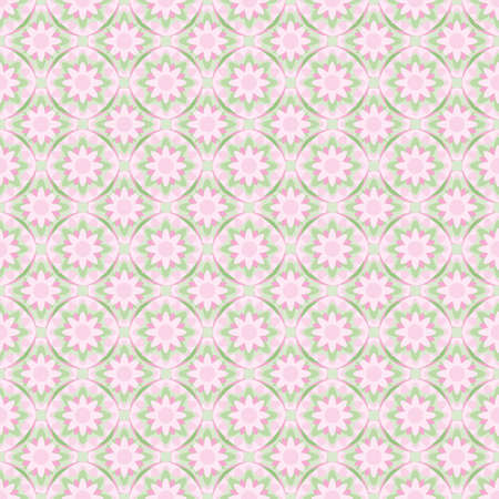 Flower mandala vector repeat pattern. Geometric floral illustration background.