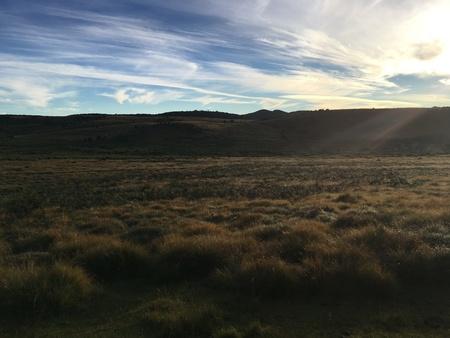 Scenic view at a rural field 版權商用圖片