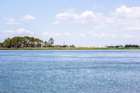 Pictersque river landscape Фото со стока