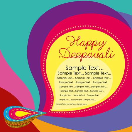 deepawali: Beautiful greeting card for Hindu community festival Diwali or Deepawali in India