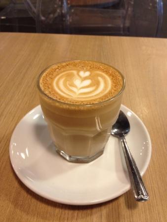 Latte by Departure Lounge Damansara Uptown PJ. Stock Photo - 23920154