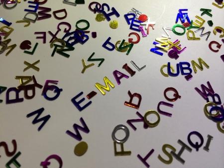 E-mail decorative alphabets  Stock Photo