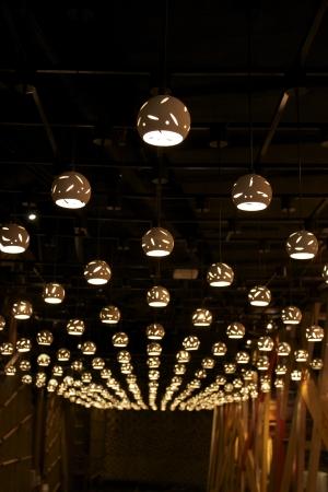 Artistic round lights Stock Photo