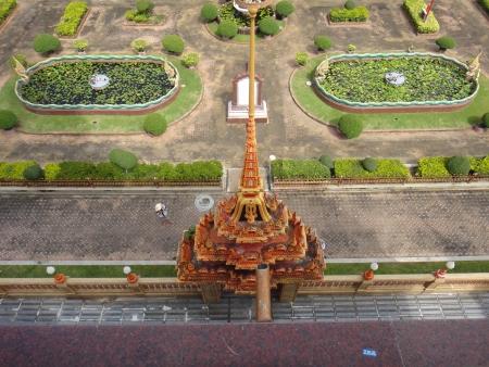Mini tower in the garden at Phuket Stock Photo