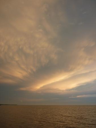Evening scene of clouds