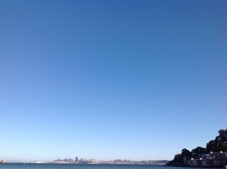 Clear blue sky @ San Francisco