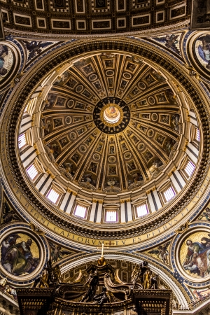 Vatican City, Italy - September 6, 2012 - St Peter Basilica Stock Photo - 15816407