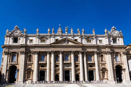 Vatican City, Italy - September 6, 2012 - St Peter Basilica Stock Photo - 15817817