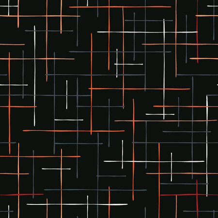Abstract Criss Cross Lines seamless pattern vector illustration