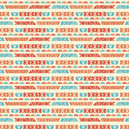 Hand Drawn Ethnic Patterns Stripes , Seamless Vector Background , Greek Blue Orange on Light Texture for Summer Fashion Prints, Boho Wallpaper, Trendy Stationery, Textiles Cultural Poster Backdrop Illustration