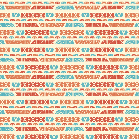 Hand Drawn Ethnic Patterns Stripes Seamless Vector Stock Photo