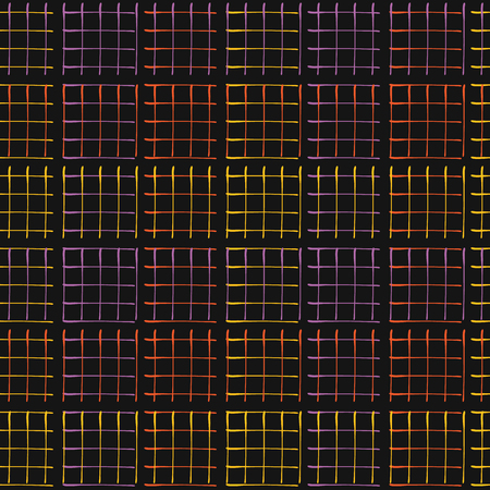 Abstract Geo Grid Pattern Vector Black Glowing Vectores