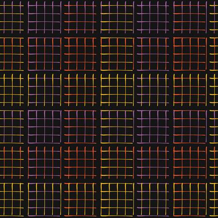 Abstract Geo Grid Pattern Vector Black Glowing