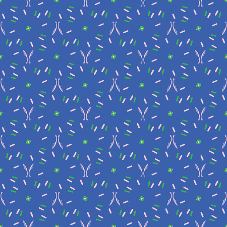 Abstract Dot Striped Grid , Vector Pattern Background Seamless, Drawn Geometric Illustration for Trendy Home Decor, Beach Apparel Gift Wrap, Fashion Prints, Retro Stationery, Blue Green Pink Trend Illustration