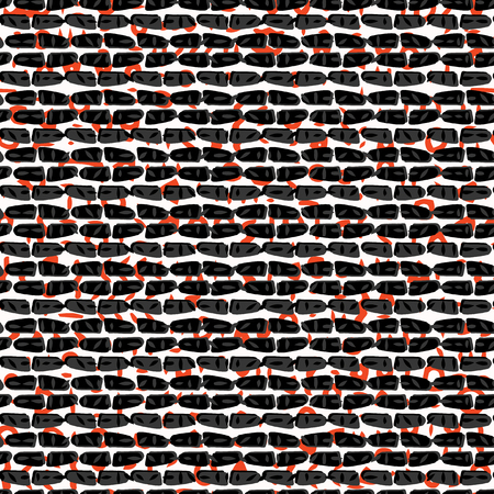 Red and Black Abstract Drawn Blood Wall