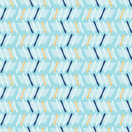 Memphis Style Geometric Stripes Seamless Vector Pattern, Hand Drawn Stylized Graphic Illustration for Trendy Fashion Print, Nautical Blue Stationery, Graphic Decor, Gift Wrap, Blog Backdrop, Wallpaper