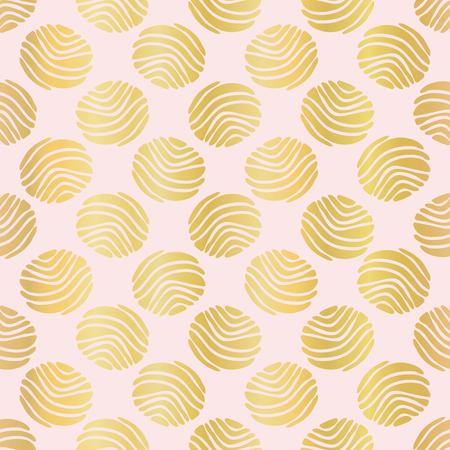 Luxe Rose Gold Polka Dots Pattern Seamless   Drawn Metallic