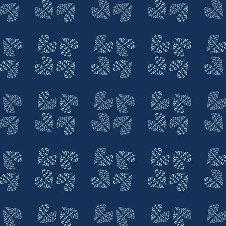 Traditionelle Indigoblau japanische Handarbeit nahtlose Vektormuster. Sashiko-Stil Handstich-Herz-Textur für Textildruck, klassisches Japan-Dekor, asiatische Kulisse oder einfache Kimono-Quilt-Vorlage.