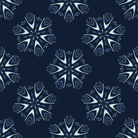 Glowing Stars Texture Seamless Vector Pattern. Drawn Starry Ornament lllustration for Winter Fashion Prints, Christmas Packaging, Magical Paper , Nordic Wrapping or Scandi Style Holidays Stationery. Ilustração