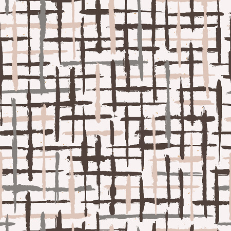 Rustic Texture Grunge Stripes Seamless Pattern. Winter White