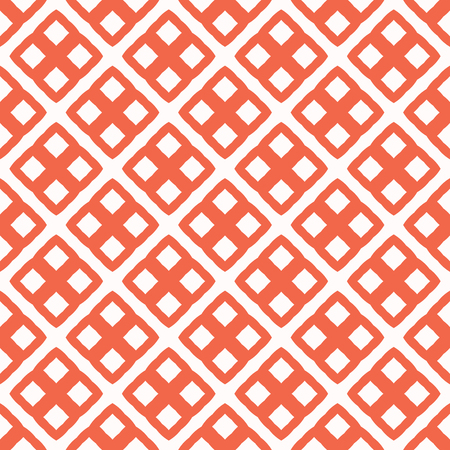 Abstract Squares Grid. Seamless Vector Texture Pattern. Hand Drawn Cross Squared Mesh in 1950s Style for Trendy Home Decor, Wallpaper, Fashion Prints Textiles, Backdrop. Vintage Red, White, Blue