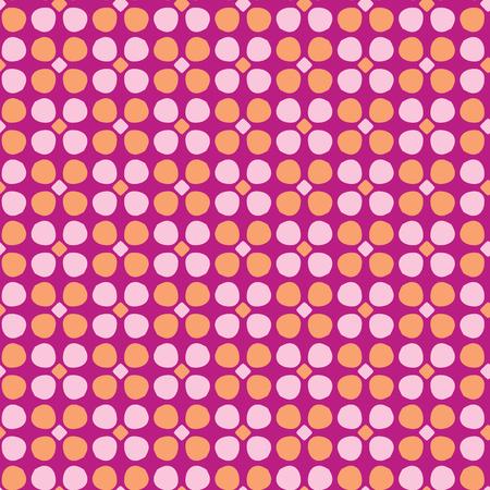 Daisy stylisé Retro Floral Seamless Vector Pattern Fleurs folkloriques colorées Allover Print. Toile de fond de mode pourpre rose Style vintage des années 1970. Tendance pour la papeterie Girly, les emballages floraux, les ustensiles de cuisine.