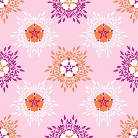 La fleur fleurit partout sur le vecteur d'impression. Motif répétitif sans couture floral coloré. Fond De Style Collage Papier Découpé. Impressions de mode dessinées à la main, papier peint, papeterie Girly, emballage de jardin féminin.
