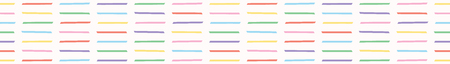 Hand drawn vector pick up stick shape stripes. Seamless repeating border. Kawaii pastel flat color illustration for birthday party and kids play party fashion banner ribbon or washi tape. Illustration