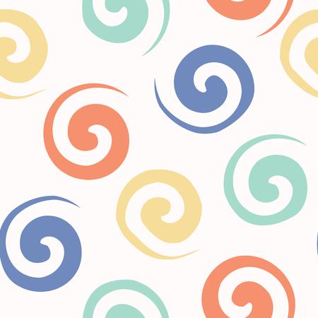 Spiral confetti polka dot vector pattern hand drawn